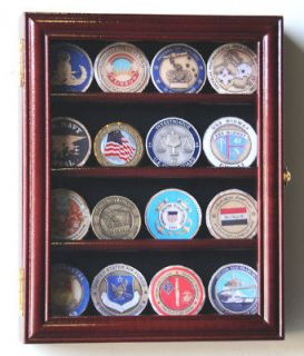 16 Military Challenge Coin Display Case Holder Rack USA
