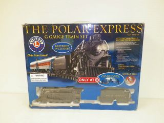 LIONEL THE POLAR EXPRESS G SCALE TRAIN SET WITH BOX
