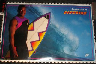 STILL SEALED !!! Bo Jackson Poster Nike Promo Pipeline   Bo Surfing