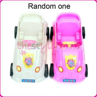 Model Club Car Golf Cart Vehicle Wheels Convertible for Barbie Doll