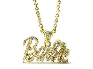 NEW Nicki Minaj Iced Out  BARBIE  Pendant Necklace