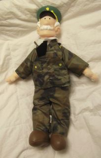 Beetle Bailey General Halftrack Toy Plush Doll Figure 16 Cartoon