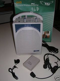 Newly listed GREAT Portable PA System with Wireless Microphones