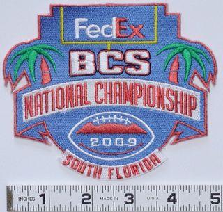 2009 FEDEX BCS NATIONAL CHAMPIONSHIP FOOTBALL GAME PATCH FLORIDA
