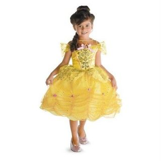 BELLE Beauty & Beast Disney Princess Sparkle Child Costume 4 6
