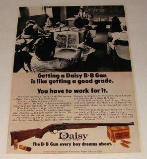 1973 bb gun air rifle ad ~ GETTING A DAISY Work For It
