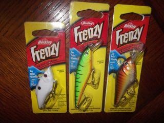 BERKLEY FRENZY LURES LOT OF (3) NIP