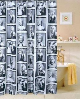 looking Marilyn Monroe lady Photo Bathroom Fabric Shower Curtain as178
