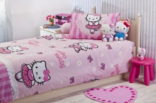 HELLO KITTY BALERINA DUVET 3 PIECES BEDDING SET TWIN/SINGLE
