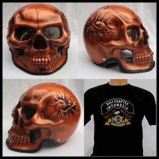 Skeleton Skull Fullface 3D Airbrush Motorcycle Helmet +*FREE GIFT