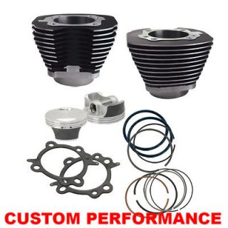 Inch Cylinder / Piston BIG BORE Kit Harley Twin Cam   101   BLACK