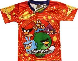 ANGRY BIRDS SPACE Happy Kids Cloht Red cartoon BoysT Shirt Sz.6 Age 2
