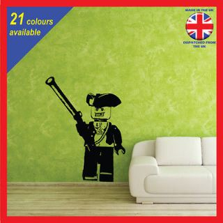 Lego Pirate and Gun   LARGE wall art vinyl sticker decal graphic