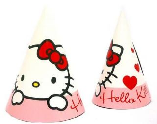 Hello Kitty Sweetheart Party Hats x 6