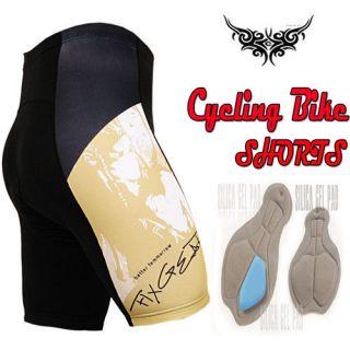 mens triathlon Cycle Bicycle Bike cyclist tight shorts 12mm gel padded