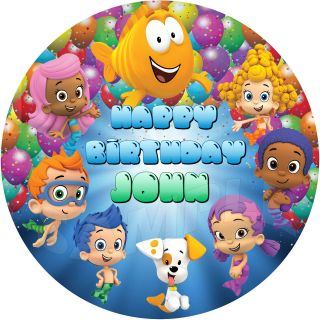 Bubble Guppies Birthday Cake on 30 Bubble Guppies Cupcake Toppers Picks Birthday Party Favors Supply