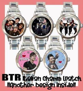 BTR Big Time Rush Wristwatch RARE Carlos Kendall James Logan