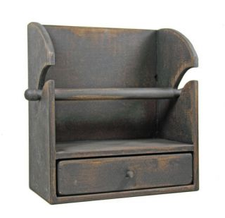 AGED WOOD PAPER TOWEL HOLDER Primitive Country Rustic Wooden Kitchen