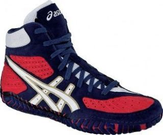 Asics Aggressor Mens Wrestling Shoes New Olympic Color Red/White/Blue