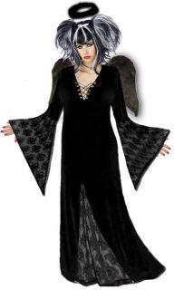 Black Gothic Dark Angel Plus Size Halloween Costume NEW Standard