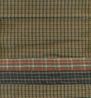 CURTAIN VALANCE CABIN QUILT BURGUNDY NAVY BLUE GREEN GRAY PARK DESIGN