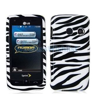 Black Whie Zebra Case Cover Accessory for LG Rumor ouch LN510