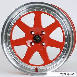 ROTA J MAG 15X7 4X100 +40 67.1 ROYAL RED RIMS WHEELS