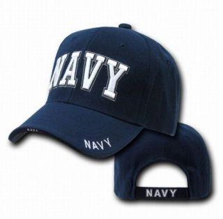 States US Navy Text Logo Military Baseball Ball Cap Hat Caps Hats