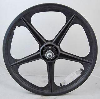 Used Black 5 Spoke BMX Bicycle Bike Mag Front Wheel 20 Radical