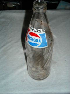 old pepsi glass bottle no cracks or chips been in storage for years