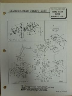 FMC BOLENS LAWN EQUIPMENT RIDING ROTARY MOWER 8726 02 PARTS MANUAL