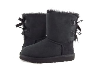 Shoes   UGG AUSTRALIA   KIDS BAILEY BOW DOUBLE RIBBON BOOTS BLACK