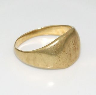 mens solid gold ring in Jewelry & Watches