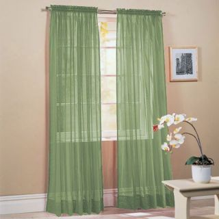 New Sage Green Voile Sheer Window Curtain/Drape/Panel