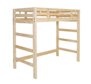Extra Tall Twin Loft Bed Frame Strong, Solid Pine Wood