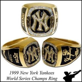 1999 New York Yankees Replica World Series Ring   MVP   MLB Baseball