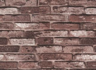 Brown Brick Texture Vinly Wallpaper Bricks for Kitchen Fireplace Free
