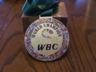 WBC CHAMPIONSHIP BOXING BELT MEDAL WORLD BOXING RING CHAMP BELT