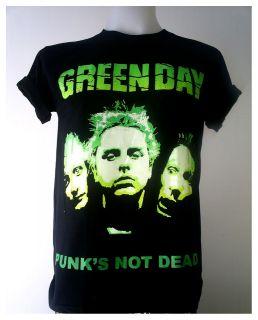 Green Day American punk rock band Black T Shirt Size S XL