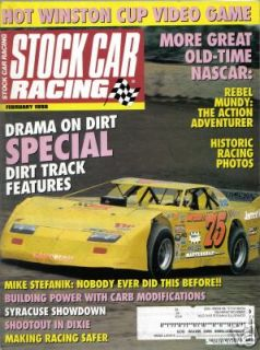 1998 STOCK CAR RACING BARRY GRANT HISTORIC RACING BILLY MOYERS WIN