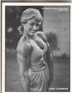 Publication Female Bodybuilding Lindy Champion/Diana Dennis 84