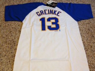 Zack Greinke Milwaukee Brewers Majestic T Shirt Jersey NEW MLB NWT