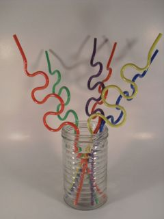 Krazy Straw (crazy straws) 6 Pack Multi color 11 1/2