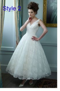 White/ivory lace wedding dress Bridal Ball gown Party Dress Custom SZ