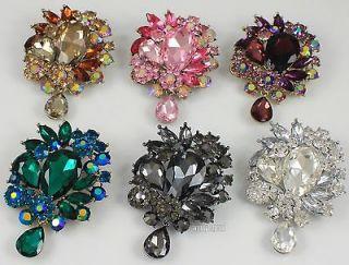 Rhinestone Crystal Brooch Pin Pendant Charm Wedding Bridal Jewelry