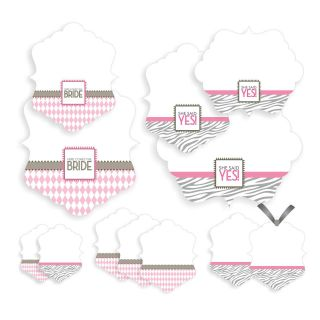 12 Doc Milo Wishes & Whimsy Pink & Zebra Bridal Shower Asst Treat Food
