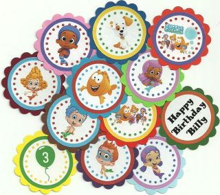 Bubble Guppies Theme   Birthday Party or Party Cupcake Toppers Custom