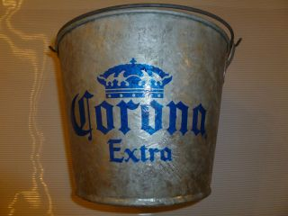 Corona Extra Metal Ice Bucket   Galvanized Steel, Beer, Size #6