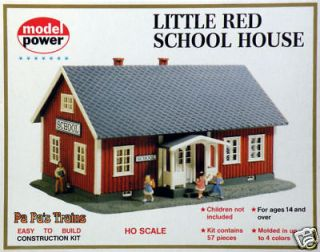 Little Red School House Model RR Building Kit HO 187 by Model Power