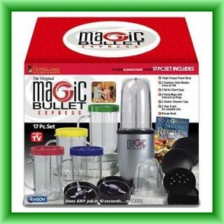 Magic Bullet Express Blender and Mixer System, 17 piece (New & Free